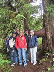 Family photos on Ketchikan Rainforest Tour