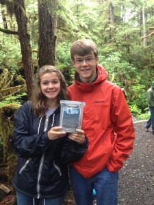 Geocaching in forest