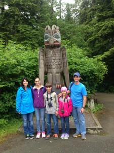 Totem poles on Ketchikan Rainforest Tour
