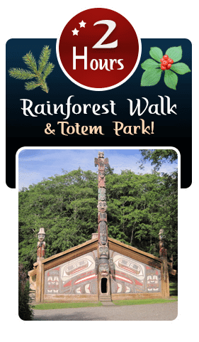 2 Hour Rainforest Walk and Totem Park Ketchikan Tour