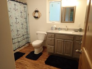 The bathroom in our Ketchikan Alaska Vacation Rental